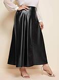 Женская юбка больших размеров черная, фото 2