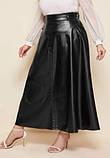 Женская юбка больших размеров черная, фото 3