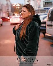Шубка-куртка короткая женская с капюшоном размеры: 48-58, фото 2