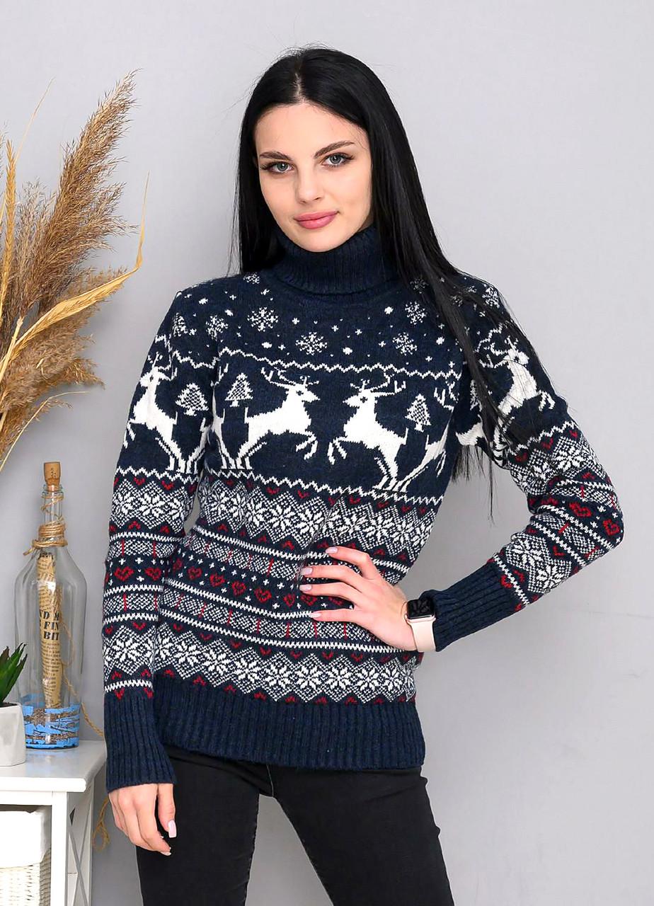 Турецкий женский свитер с оленями 42-46 (в расцветках)