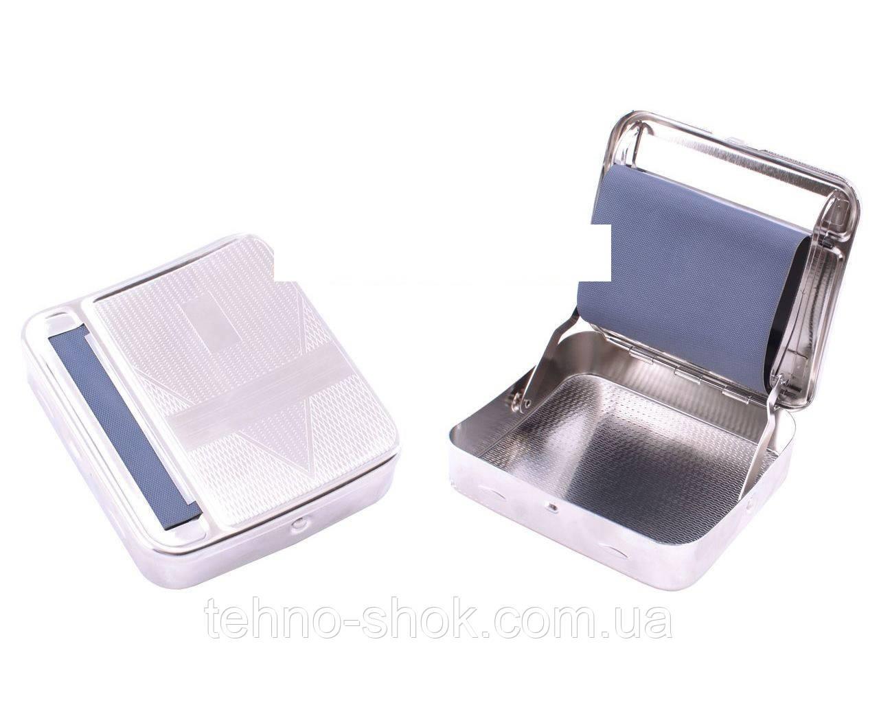 Портсигар с автоматической машинкой для самокруток (Металл)
