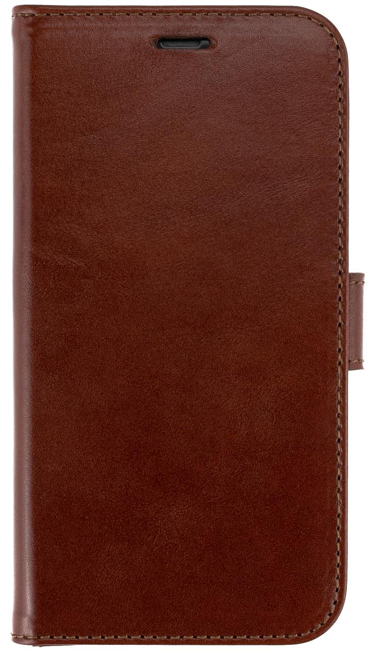 Шкіряний чохол-книжка Valenta для телефону iPhone XR Коричневий (С1241811ірхг)