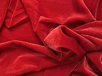 Бархат-Люрекс (с напылением) Красный