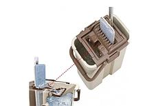 Комплект швабра и ведро с автоматическим отжимом Spin Mop NEW, швабра лентяйка, фото 3