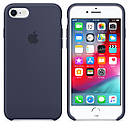 Чохол Apple Silicone Case для iPhone 7 Midnight Blue (1649), фото 3