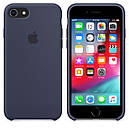 Чохол Apple Silicone Case для iPhone 7 Midnight Blue (1649), фото 4