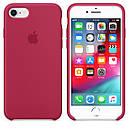 Чохол Apple Silicone Case для iPhone 7 Rose Red (1652), фото 3