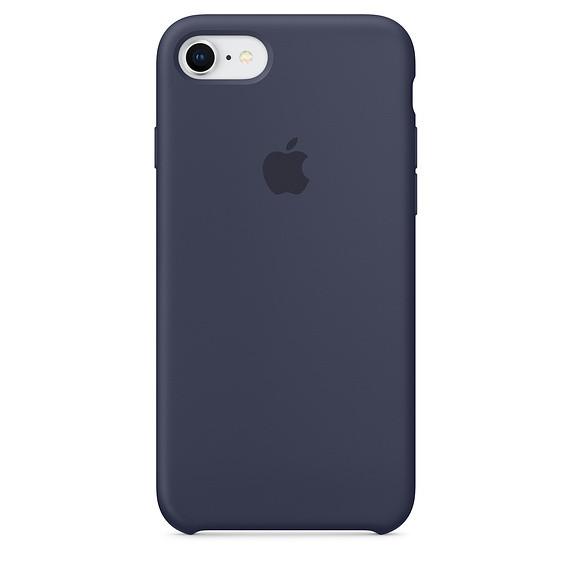 Чохол Apple Silicone Case для iPhone 8 Midnight Blue (1659)