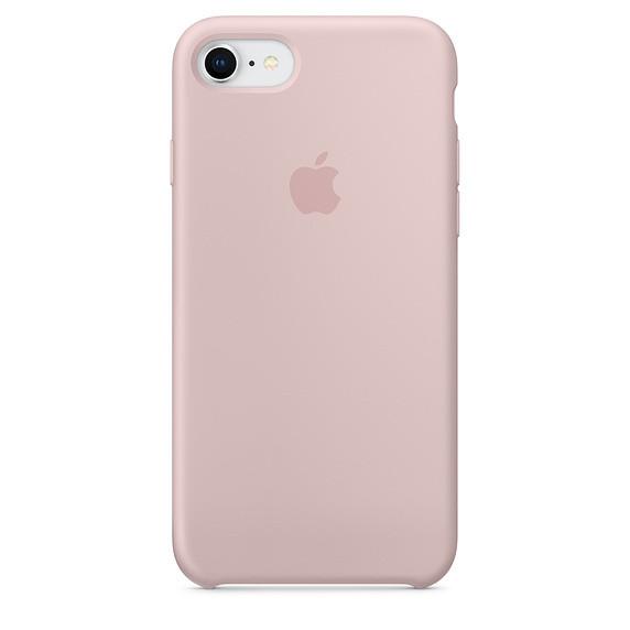 Чохол Apple Silicone Case для iPhone 8 Pink Sand (1660)