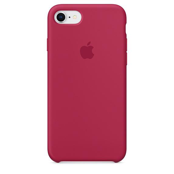 Чохол Apple Silicone Case для iPhone 8 Rose Red (1662)