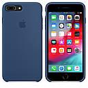 Чехол Apple Silicone Case для iPhone 7 Plus Blue Cobalt (1667), фото 4