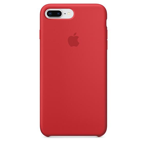 Чохол Apple Silicone Case для iPhone 8 Plus Red (1681)