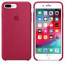 Чохол Apple Silicone Case для iPhone 7 Plus Rose Red (1672), фото 2