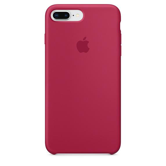 Чехол Apple Silicone Case для iPhone 8 Plus Rose Red (1682)