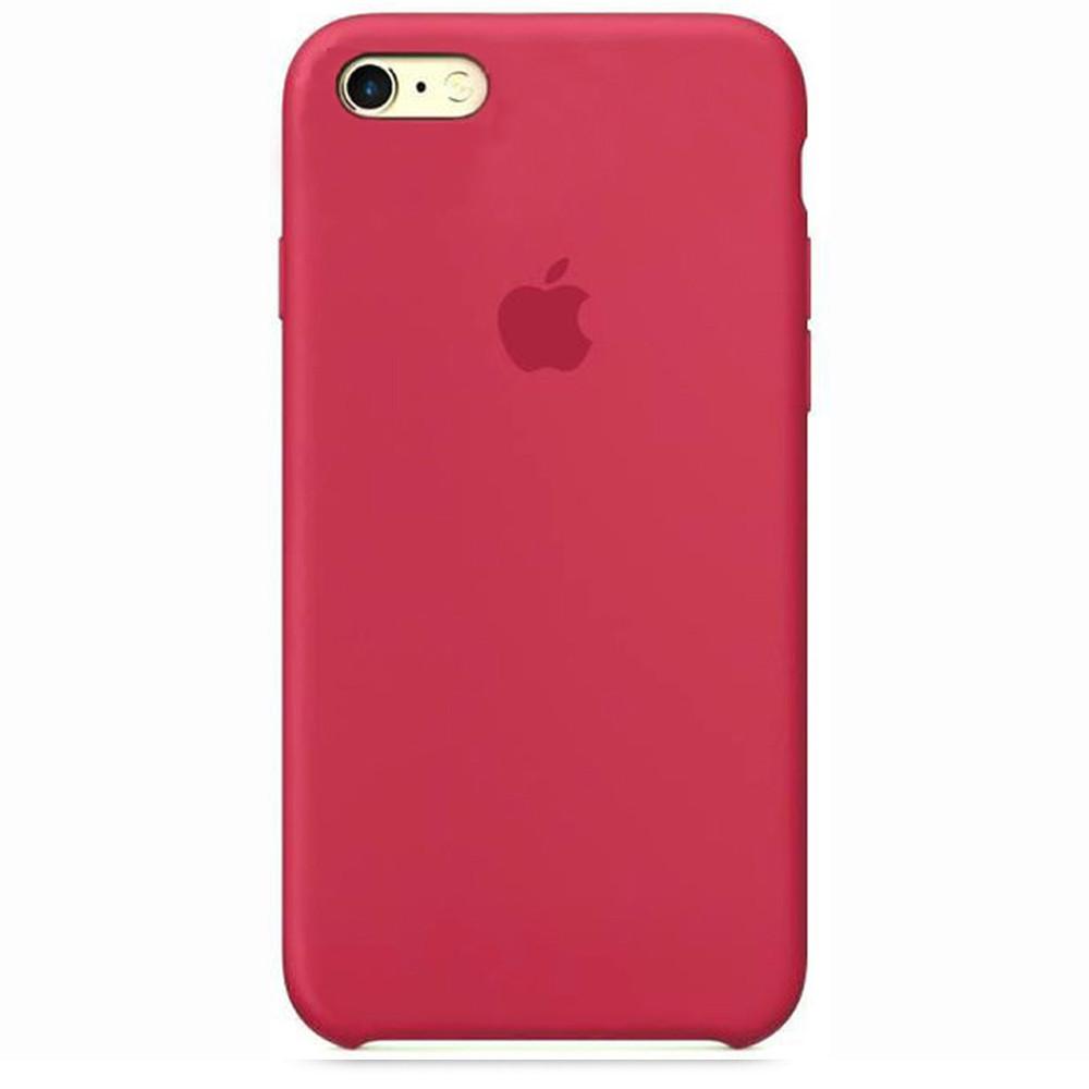 Чехол Apple Silicone Case для iPhone 6/6s Rose Red (1692)