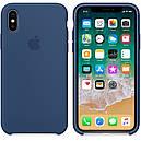 Чехол Apple Silicone Case для iPhone X/Xs Blue Cobalt (1707), фото 3