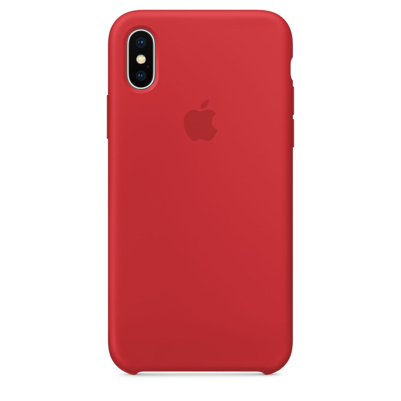 Чехол Apple Silicone Case для iPhone X/Xs Красный (1711)