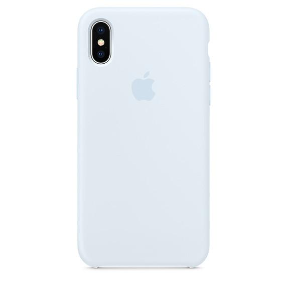 Чехол Apple Silicone Case для iPhone X/Xs Sky Blue (1713)