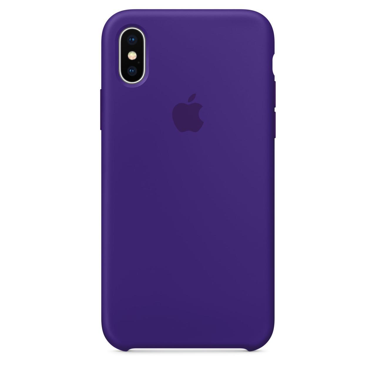 Чехол Apple Silicone Case для iPhone X/Xs Ultra Violet (1714)