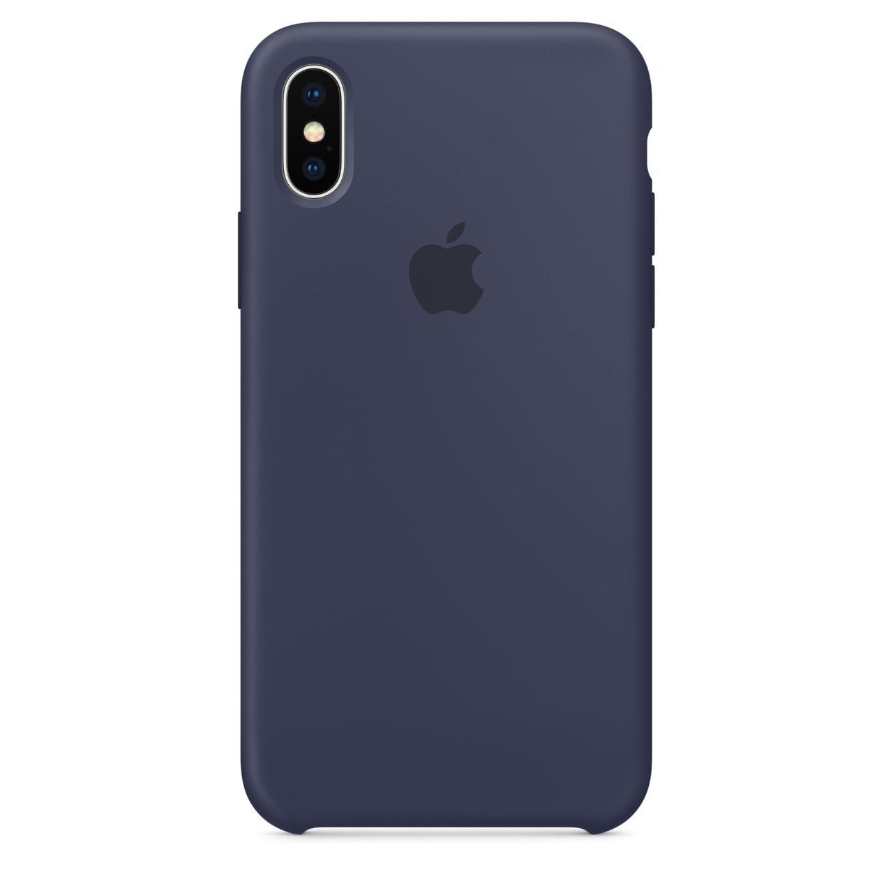 Чехол Apple Silicone Case для iPhone Xr Midnight Blue (1719)