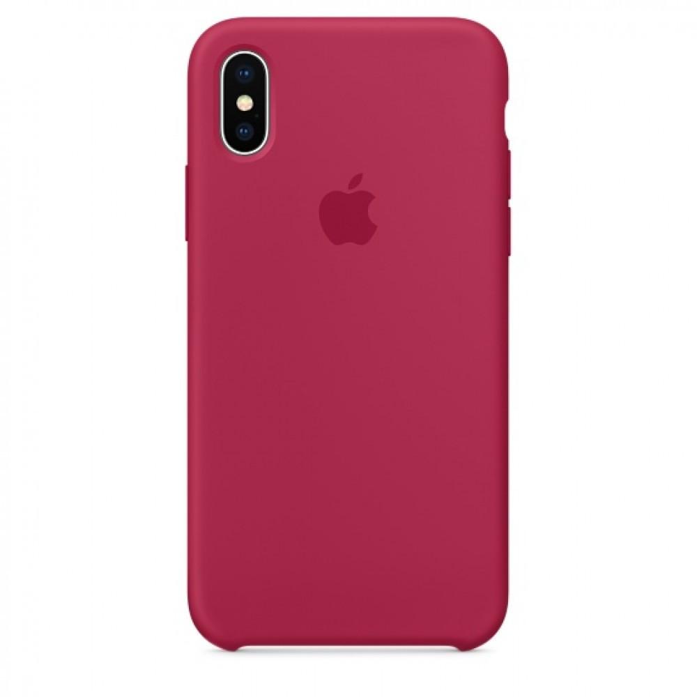 Чехол Apple Silicone Case для iPhone Xs Max Rose RED (1732)