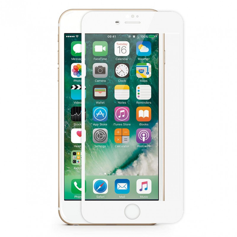 Защитное стекло iMax 3D Japanese Material для iPhone 7 Plus Белый (1803)