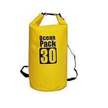 Водонепроникний рюкзак/гермомешок з шлейкой на плече Ocean Pack 30 л Yellow (553582153120)