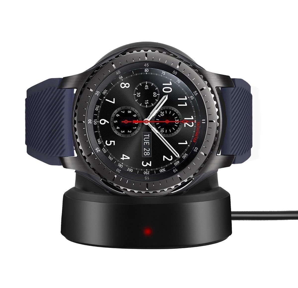 Беспроводное зарядное устройство BeWatch для смарт-часов Samsung Gear S3 Черный (1027700)