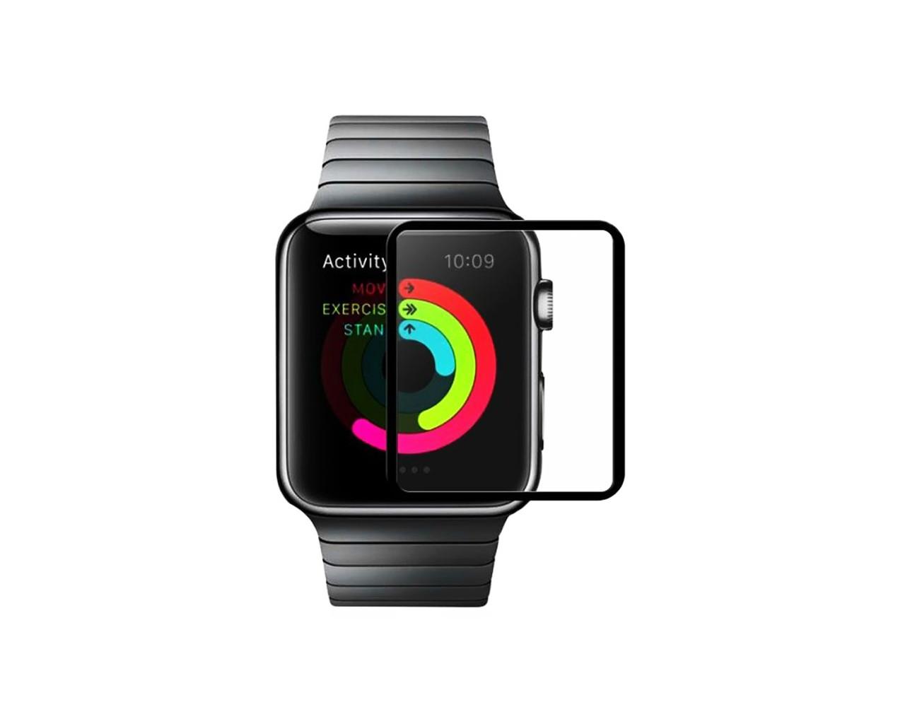 Захисне скло Hoco Full Rim для Apple Watch 38 мм Black (1989)