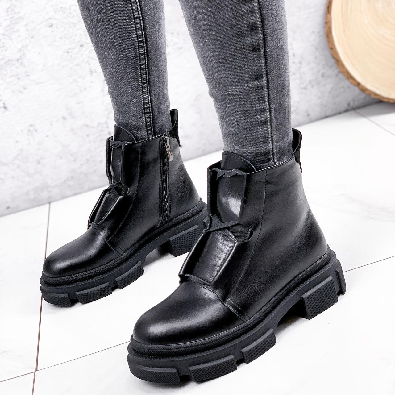 Ботинки женские Plesh черные ЗИМА 2517