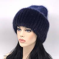 Шикарная женская шапка зимняя с мехом норки разные цвета 0101/1