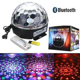 Світломузика Диско куля Magic ball music Bluetooth з MP3 плеєром 6 LED YX-024-M4
