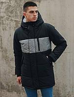 Зимняя куртка Staff vel black long, фото 1
