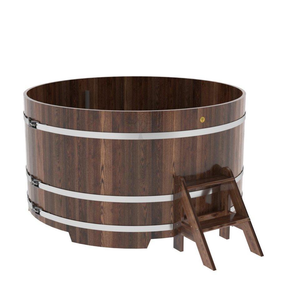 Купель круглая Bentwood Ø 1170 мм, 1200 мм темная лиственница