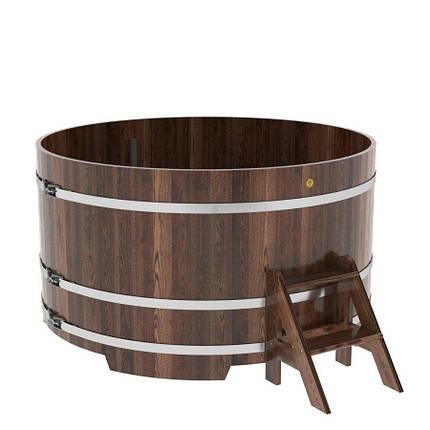 Купель круглая Bentwood Ø 1170 мм, 1200 мм темная лиственница, фото 2