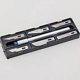Макетный нож 7в1 + лезвия модельный нож цанговый зажим хобби моделирование цанга (EN-0082), фото 5