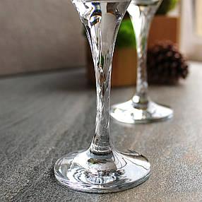 Рюмки на крученной ножке с позолотой Гусь-Хрустальный Лагуна 55 мл 6 шт (EAV259-612/S), фото 2
