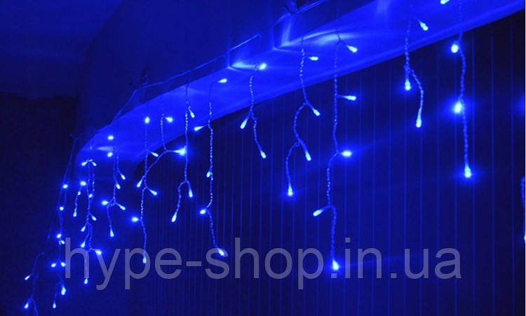 Гирлянда занавес  Sople 100 led длина 3.2 метра синяя с переходником
