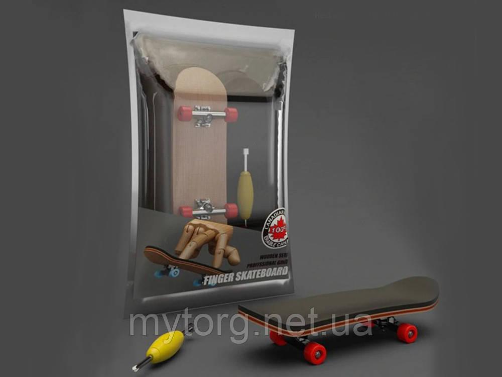 Фингерборд Fingerboard Мини скейт Подшипниковый Красный