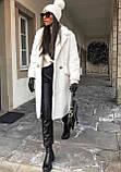 Кожаные брюки на флисе женские в стиле манго, фото 9