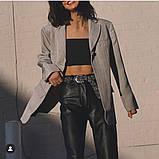 Кожаные брюки на флисе женские в стиле манго, фото 10