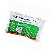 Шприци ін'єкційні інсулінові стерильні одноразового застосування BD Micro-FineTM Plus, 0,5 мл, IНСУЛIН U-100,