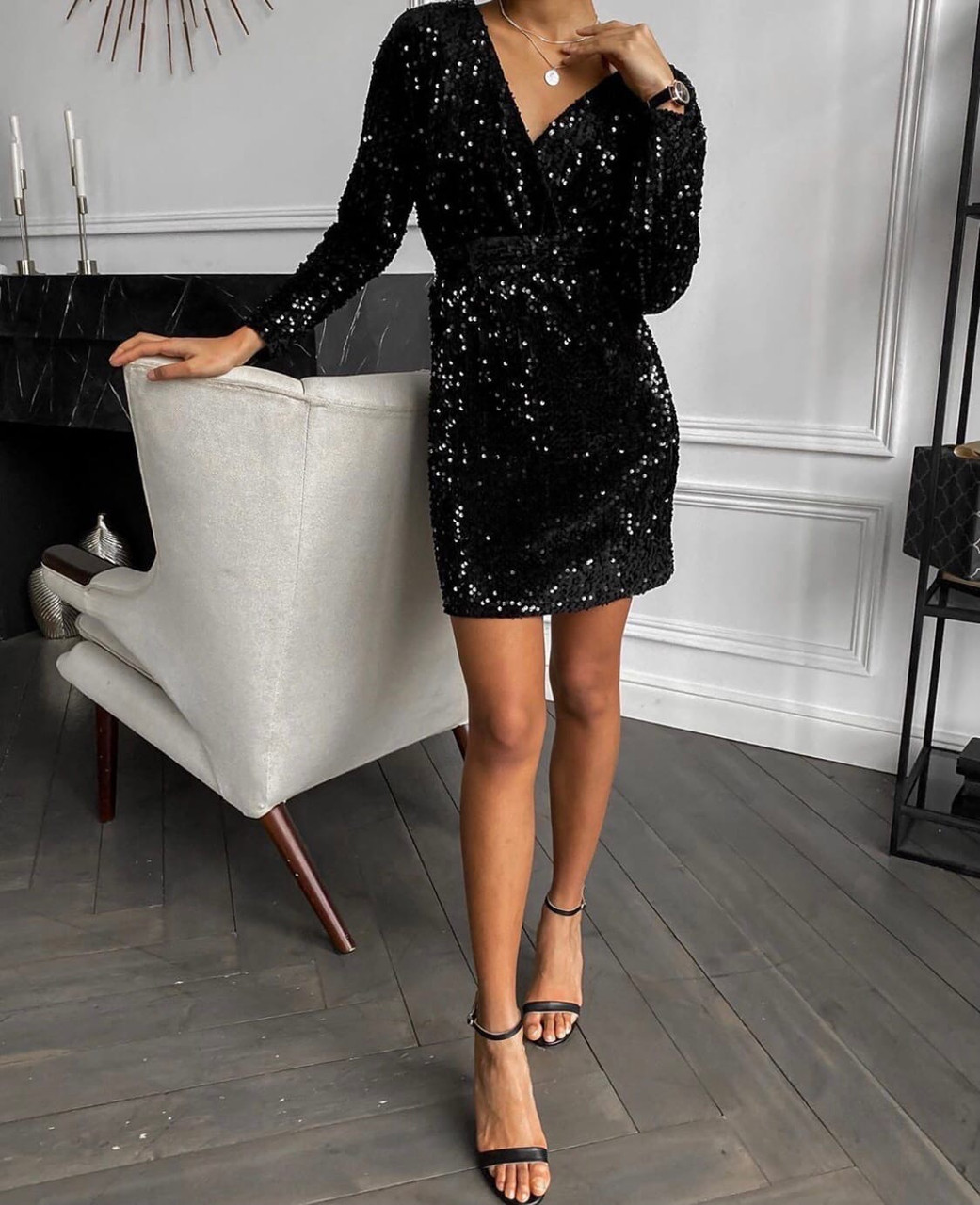 Платье женское пайетка на бархате вечернее новогоднее нарядное