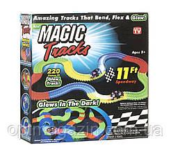 Magic Track на 3 батарейки 220 деталей Гоночный трек