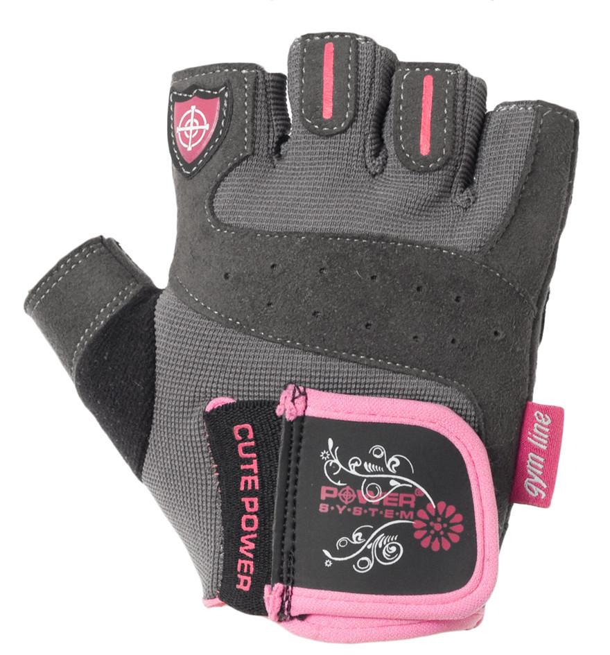 Перчатки для фитнеса и тяжелой атлетики Power System Cute Power PS-2560 Pink S SKL24-145669