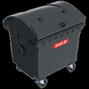 Контейнер мусорный ТБО Sulo 1100 л с куполообразной крышкой (модель крышка в крышке) серый