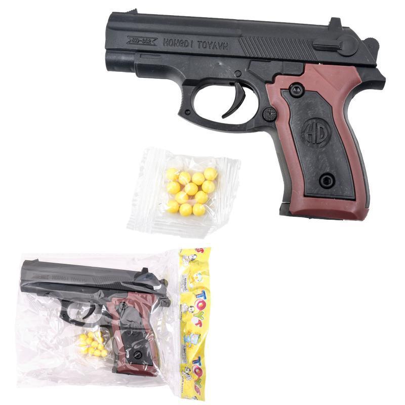 Пистолет на пульках, 13см, в кульке, 13-9,5-2,5см