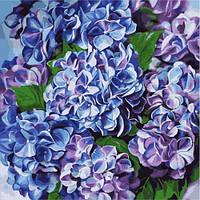 """Картина по номерам """"Яркая гортензия"""" (Диана Тучс), Идейка, картины по номерам,рисование по номерам,живопись по"""