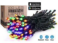 Гирлянда Умная/Smart Led 100l, длина 10м, цвет свечения Мульти + Теплый, 20 режимов