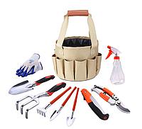 Набор садовых инструментов из 13 предметов, нержавеющая сталь